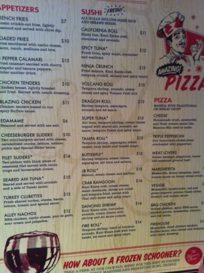 Splitsville Menu 1